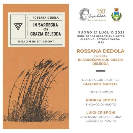 Presentazione del libro di Rossana Dedola 'In Sardegna con Grazia Deledda'
