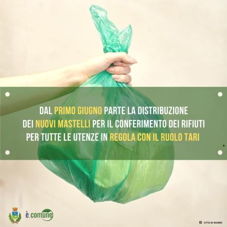 Dal primo giugno partirà la distribuzione da parte della società E'-COMUNE dei nuovi mastelli per il conferimento dei rifiuti